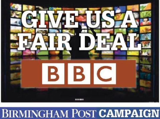 GOVERNMENT WARNED BY POLITICIANS TO SAVE BBC BIRMINGHAM