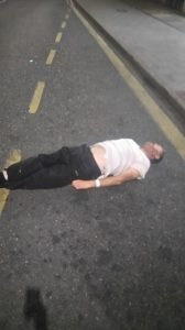 Man Unconscious On Spice In Kentish Town