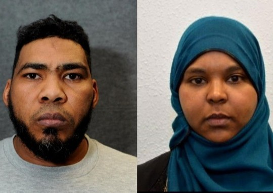 The Evil Faces Of Couple Jailed For Foiled Uk Terror Plot