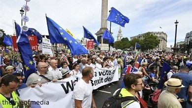 Protesters Gather In Numbers To Rally Over Brexit Final Vote