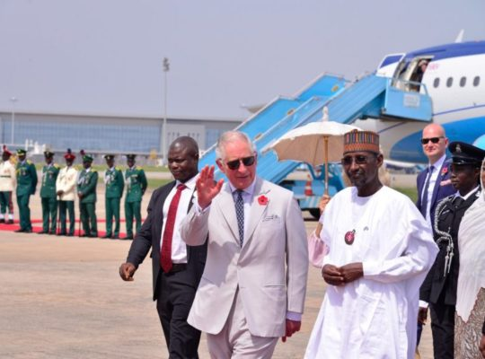 Prince Charles Meets Nigerian President After Avoiding Security Scare