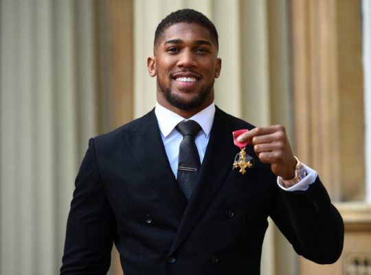Anthony Joshua Ends 2018 With OBE From Prince Charles