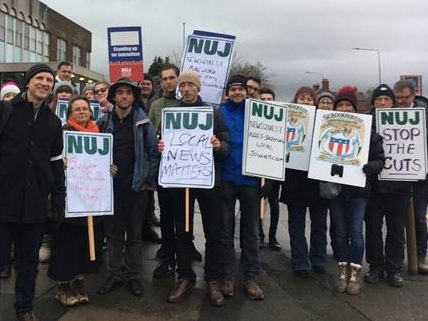 Cumbria Newsquests Journalists Strike In Protest Of Tight Employers