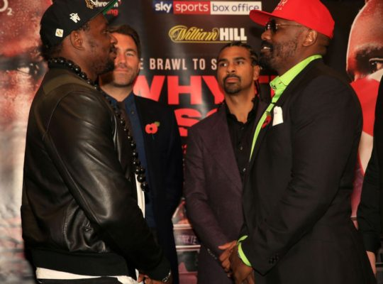 Derek Chisora And Dillian Whyte Both Promise An Explosive Victory