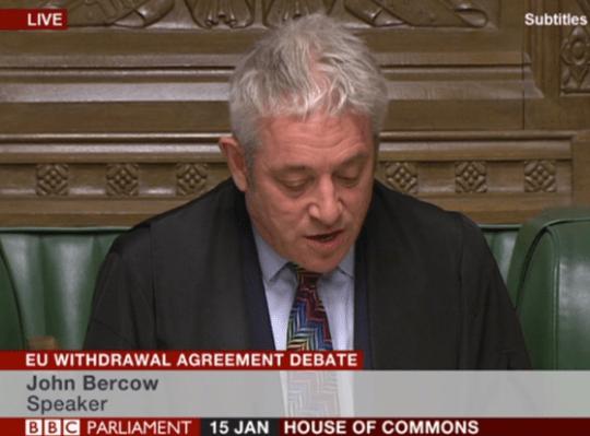 Bercow Allows Amendments To Brexit  Deal Vote As Debate Kicks Off