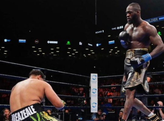 Wilder Unleashes Anointed Knock Out Power In demolishing Breazeale