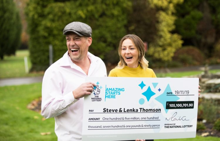 UK Builder And Wife Celebrate Huge £105,000 Lottery Win