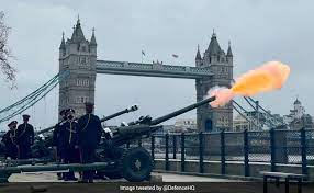 Gun Salutes Fired In Memory Of Prince Phillip