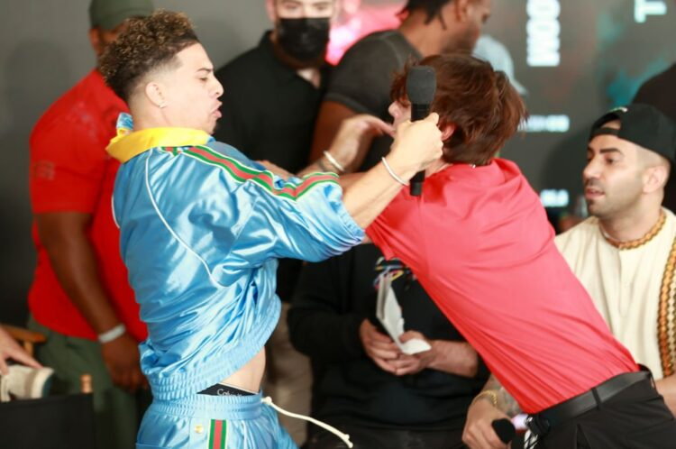 Press Conference To Promote Youtube And TikTok Conference Descends Into Chaotic Brawl