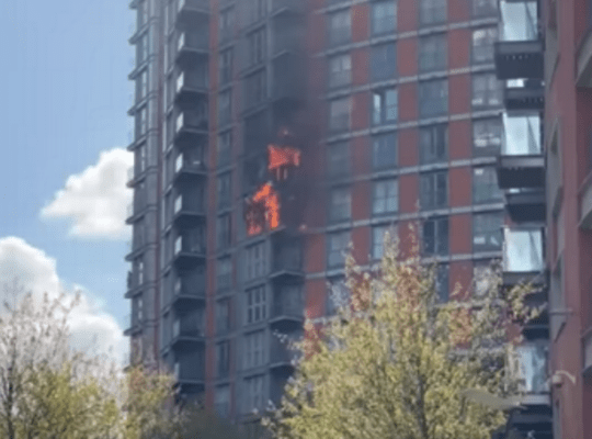 Two Men Hospitalised After Smoke Inhalation From East London  Building Fire Blaze