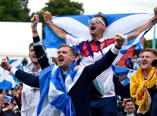 Thousands Of Scottish Fans Gather In London Ahead Of England Euro Clash