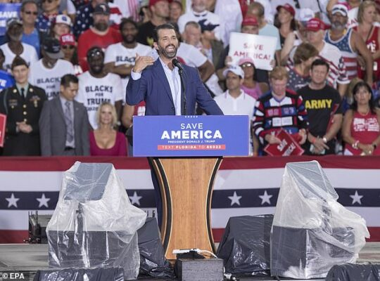 Donald Trump Jnr Ridiculed By Telegram Users After Fundraising Requests To Finance Dad's Suit