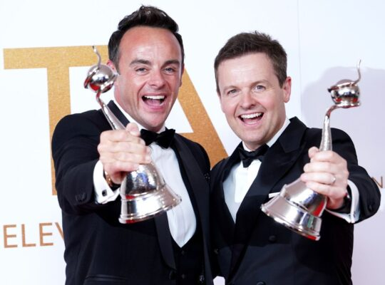 Ant And Dec Are Prolific Champions Of TV Presenting As They Celebrate  20th NTA Awards Victory
